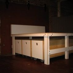 Platform Bed With Drawers by Tomas Verde