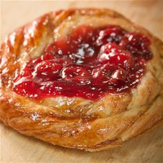 Our Cherry Danish is as delicious as it is beautiful! #3brothersbakery #houstonbakery