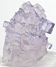 Purple Fluorite Crystal Specimen Mexico by FenderMinerals on Etsy,