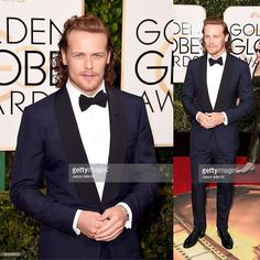Two more *New MQ/Tagged pics* of Sam arriving at the #GoldenGlobes tonight! •••••••••••••••••••••••••••••••••••••• #SamHeughan #Scot #SexySam #Scotland #Scottish #JAMMF #JamieFraser #Outlander #OutlanderStarz #HotScot #Actor #Sam #Sexy #Sheugs #StudMuffin #Random #KingOfMen #Perfection #nofilter #Ginger #Redhead #SuitAndBowTie #GoldenGlobes #Suit #SuitedUp #KiltedGlobes