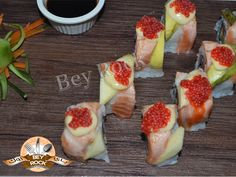 Salmon Roll #Sushi is now available. Enjoy our introductory price of AED 30. Available on every Thursday and Friday.#beyrockexpress #dragonmart2 #dubai #Sushi #food #uae Visit us at Dragon Mart 2, Boulevard Area. for more info : Call 04/5517417