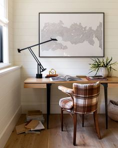 Off White Paints, Off White Walls, Brown Walls, Dry Erase Paint, Home Office Colors, Office Decor, Clean Space, Best Paint Colors, Small Study