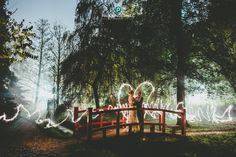 Creative wedding photography | Fun with sparklers during couple portraits - Paul Underhill Photography