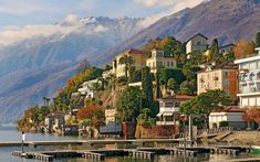 "sunsurfer: ""Lake Paradise, Ascona, Tessin, Switzerland photo via westeastsouthnorth "" Oh The Places You'll Go, Places To Travel, Places To Visit, Lugano, San Gotardo, Switzerland Wallpaper, Switzerland Cities, Italian Lakes, Viajes"