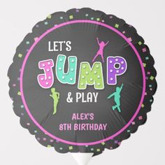 Shop Trampoline Birthday Balloon - Girl created by BDP_Designs. Holiday Cards, Christmas Cards, Girl Birthday Decorations, Custom Balloons, 8th Birthday, Birthday Balloons, Elephant Gifts, Party Supplies, Gender