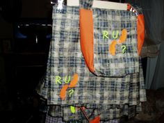 One of the newest kilts with matching flour bags that I have been busy making