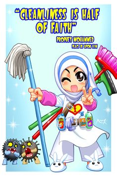 Cleanliness is from Faith by Nayzak.deviantart.com