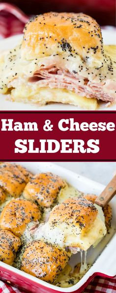 Recipes for leftover ham? Ham and cheese sliders with poppy seed dressing is the number 1 recipe for ham! via @ohsweetbasil