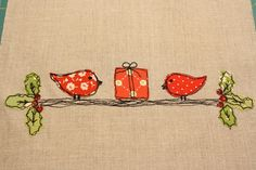 Why Not Sew?: Birdie Wall Hanging ~ Tutorial for Quilt Story Christmas 2011