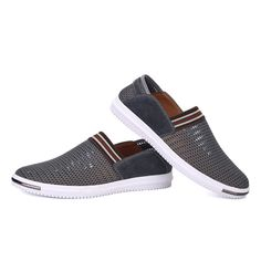 Summer Breathable Men Shoes Espadrille Fashion Casual Flats Shoes Big Plus Size Loafers Boat Shoes Flat Shoes Driving Hollow Out