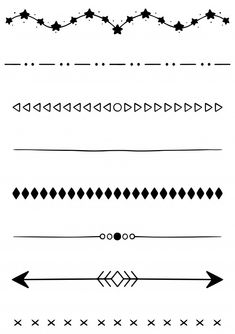 Bullet Journal Graphics, Bullet Journal Frames, Bullet Journal Dividers, Bullet Journal Work, Bullet Journal For Beginners, Bullet Journal Lettering Ideas, Bullet Journal Ideas Pages, Easy Doodle Art, Hand Lettering Alphabet