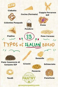 Italy is known for it proud food and culinary heritage, included is bread that has been baked the same way for thousands of years 🍞 🥖 From the focaccia, panettone, ciabatta and so many more We look at the types of bread and how they've came to be 🍞 🥖 Italian Bread Recipes, Different Types Of Bread, Food Vocabulary, Food Drawing, Ciabatta, Artisan Bread, Savoury Dishes, Food Illustrations, International Recipes
