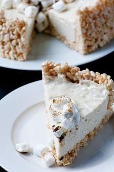 Vanilla Bean Toasted Marshmallow No Bake Cheesecake 02
