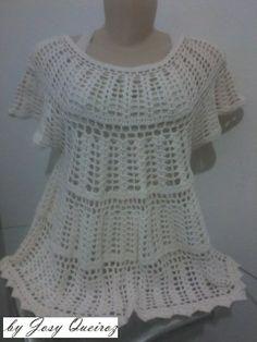 Bata de Crochet   Josy Queiroz