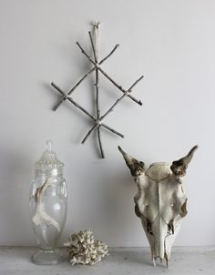 Protection . pagan viking wall-hanging twigs by BoudoirDuChaman