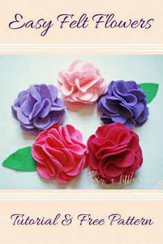 Fire up your glue guns! I have a fun and quick tutorial for you today on how to make these cute felt flowers and all you need is a glue gun and some felt sheets. Got to love a free felt flower pattern! They are great for headbands or decorating other projects.