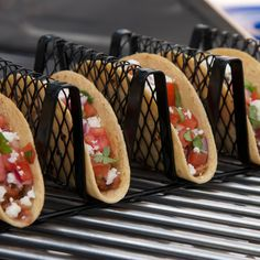 Non-Stick Taco Grill Rack: Looking for something different to serve at your next bbq or tailgating party? How about grilled tacos?