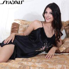 Shaya facilitate nobility embroidered suspenders sexy sexy nightdress side split silk nightdress lingerie nightwear
