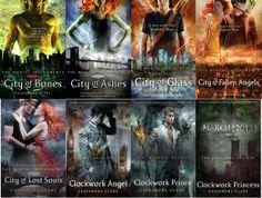 ASDFGHJKLÑ Todos los libros de Cazadores de Sombras