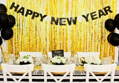 Glittery New Year's Eve Party