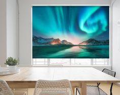 Northern Lights Aurora Iceland Photo Picture Roller Blind Blackout /& Standard