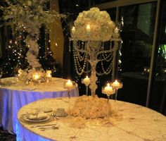 Winter White centerpiece