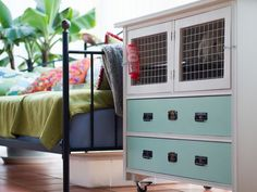 An indoor rabbit hutch that isn't ugly.