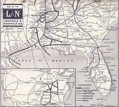 1958 L Railroad System Map