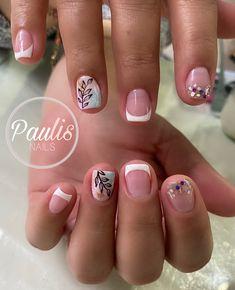 French Manicure Nail Designs, French Pedicure, Pop Art Nails, Nail Art, Cute Acrylic Nails, Gel Nails, Precious Nails, Short Nails, Nails Inspiration