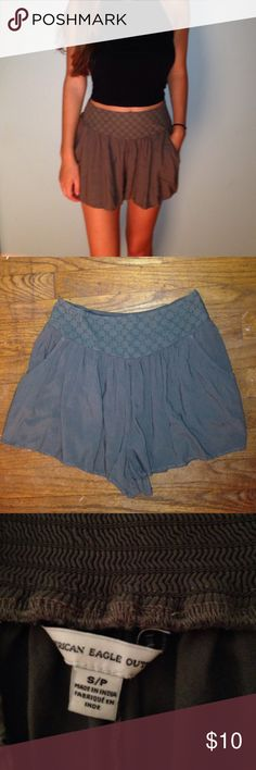 Worn once American eagle flowy shorts Only worn once flowy and fun matches with a lot of tops American Eagle Outfitters Shorts