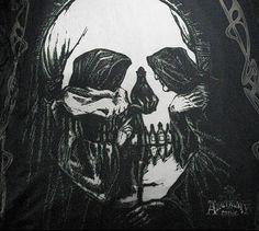 --δ-Θ-Φ-Ω-- skull Halloween