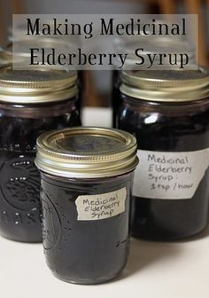 Build the immune system naturally by making medicinal elderberry syrup with this easy recipe.