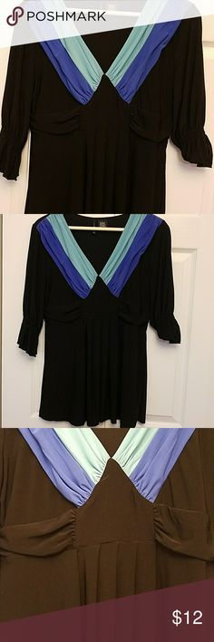 New Directions Women's Blouse Top 3/4 Sleeves 94% Polyester new directions Tops Blouses