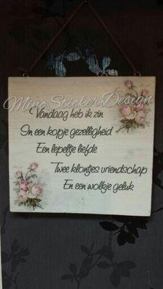 tekstbordje gemaakt van steigerhout.