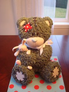 My Teddy Bear Base On The Tutorial From Bake A Boo on Cake Central