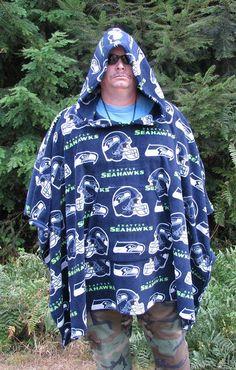 Hooded Fleece Poncho, Fleece hooded poncho, Men's poncho, NFL fleece, mens poncho, sports poncho, Hooded poncho, hooded poncho fleece by adfabinidaho on Etsy