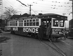 Street car in Detroit...1940s.