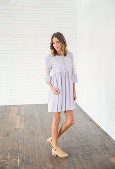 Sundown Lilac Babydoll Dress Bella Ella Boutique Online Store dfaf26a9f