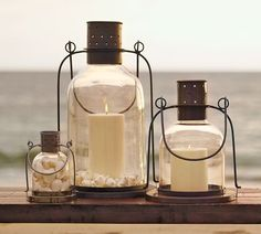 Shop Pottery Barn for hand crafted lanterns to light up any space. Our selection includes both indoor and outdoor lanterns in bronze, silver and wood finishes. Lanterns Decor, Candle Lanterns, Candle Sconces, Patio Lanterns, Vintage Lanterns, Jar Candles, Hurricane Lamps, Coastal Style, Coastal Living