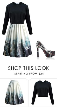 """""""roupa mulher"""" by ana-s-cunha on Polyvore featuring Chicwish, Prada, women's clothing, women's fashion, women, female, woman, misses and juniors"""