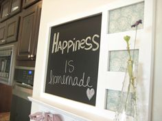 Picture frame revamp with chalkboard paint!