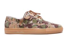 Del Toro Sahara Camo Suede Basso Wingtip Sneaker