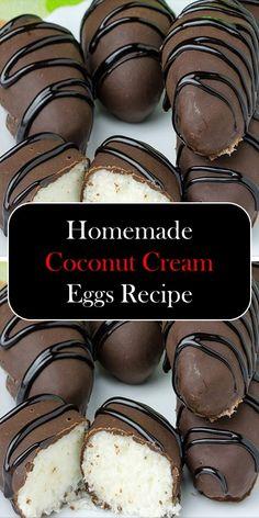 Easter Recipes, Egg Recipes, Baking Recipes, Candy Recipes, Easter Ideas, Recipies, Coconut Cream Easter Egg Recipe, Low Carb Appetizers, Appetizer Recipes