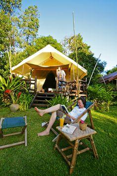 Camping in Style @ Hintok River Camp  http://hintokrivercamp.com/