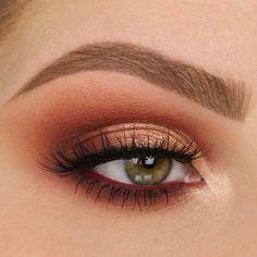 39 Trendy Ideas Makeup Bronze Lidschatten Kupfer - Prom Makeup Looks Copper Eyeshadow, Bronze Eye Makeup, Eyeshadow Tips, Eye Makeup Tips, Smokey Eye Makeup, Makeup Goals, Eyeshadow Makeup, Makeup Inspo, Makeup Inspiration