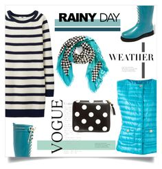 """""""Splish Splash: Rainy Day Style!!"""" by miss-image ❤ liked on Polyvore featuring Herno, Ilse Jacobsen Hornbaek, Uniqlo, Comme des Garçons and Marc by Marc Jacobs"""