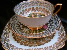 Co-Op Society matched tea trio cup saucer plate set