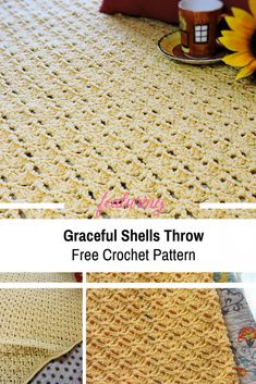 Graceful Shells Throw Free Crochet Pattern - Knit And Crochet Daily