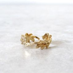 Leaf Wreath Rings via Kloica Accessories. Click on the image to see more!