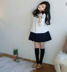 Cute Asian Babies, Korean Babies, Asian Kids, Cute Asian Girls, Cute Babies, Little Fashion, Kids Fashion, Fashion Outfits, Uzzlang Girl